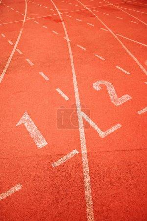 Start point of running track