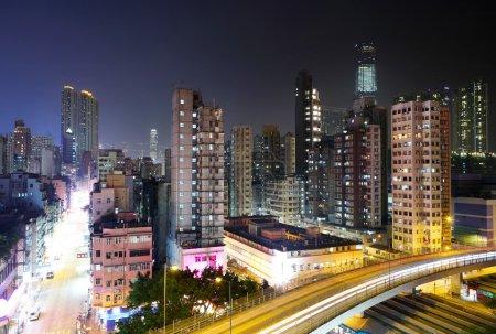Photo pour Hong Kong la nuit - image libre de droit