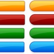Blank web color buttons. Vector....