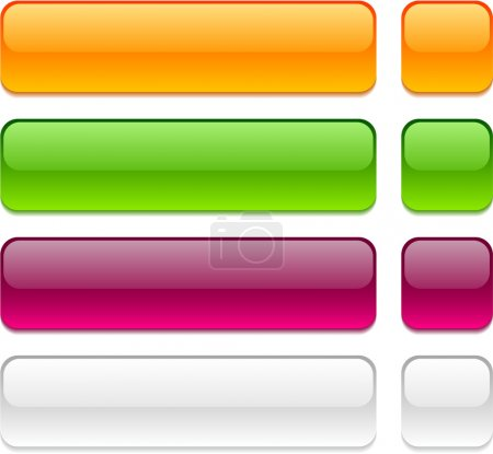 Rectangle buttons on white background.