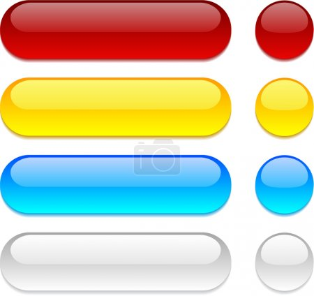 Rounded buttons on white background.