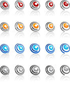 Set of modern emblems