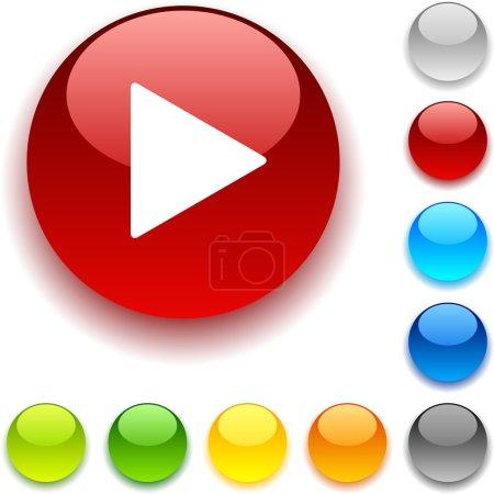Illustration pour Jouer bouton brillant. illustration vectorielle. - image libre de droit