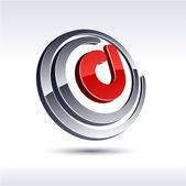 3D D letter icon