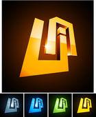 Vector illustration of 3d UA symbols