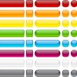 Blank web buttons. Vector illustration....