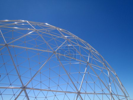 See through Geodesic Dome with blue sky