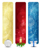 Set of winter christmas vertical banners vol 01