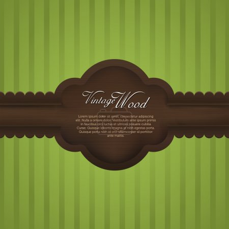 Elegant wood vintage frame with realistic wooden t...