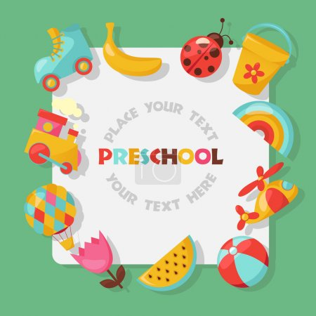 Illustration for Baby frame with place for your text - Royalty Free Image