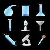 Icons for chemical lab