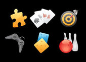 Icons for games leisure and gambling