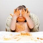 Постер, плакат: Happy funny messy eater