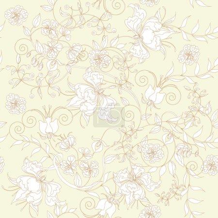 Illustration pour Décoratif sans couture lumière ivoire fond . - image libre de droit