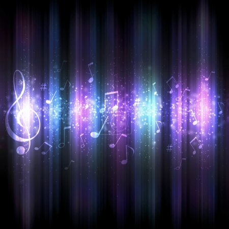 Photo for Futuristic abstract glowing music background for your design - Royalty Free Image