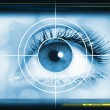 High-tech technology background with targeted eye ...