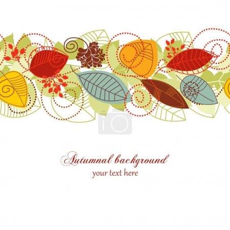 Illustration pour Modèle sans couture avec des feuilles dans les couleurs de l'automne - image libre de droit
