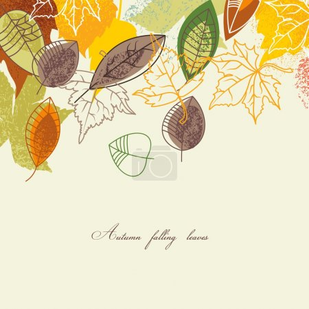 Illustration for Autumnal background in bright colors - Royalty Free Image