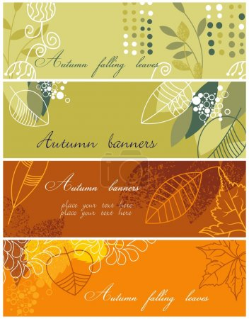 Autumnal banners