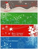 A collection of banners on Christmas theme