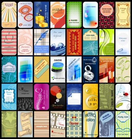 Illustration pour 40 cartes de visite verticales - image libre de droit