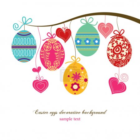 Illustration for Easter eggs background - Royalty Free Image