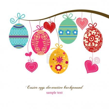 Illustration for Easter eggs background - Royalty Free Image