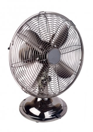 Photo for Isolated image of a fan working against a white background - Royalty Free Image