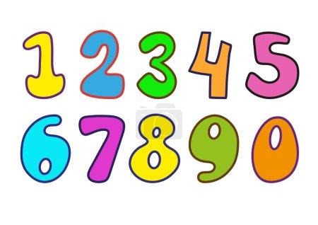 Illustration pour Numéros décoratifs pour magazines pour enfants - image libre de droit