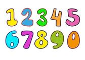 Decorative Numbers for children's magazines