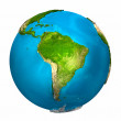 Planet Earth - South America - colorful globe with...