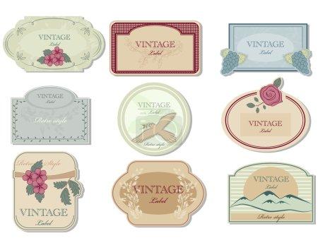 Illustration for Vector vintage label set - Royalty Free Image