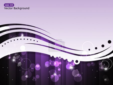 Illustration for Vector background with purple stripe and stars - Royalty Free Image