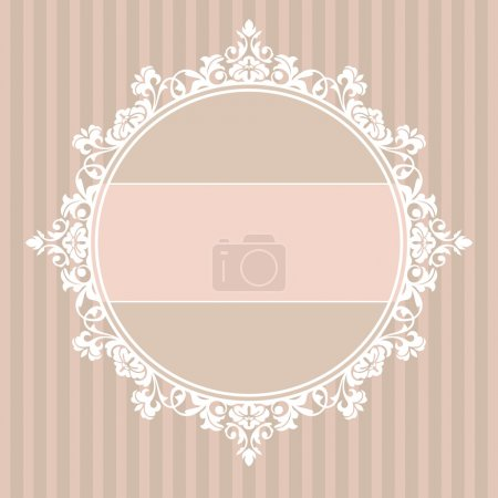 Illustration for Abstract cute decorative vintage frame vector illustration - Royalty Free Image
