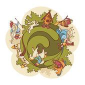 Märchenhafte Welt Zusammensetzung