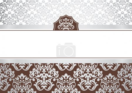 Photo for Abstract invitation frame with free space for your text - Royalty Free Image