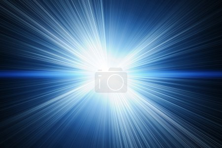 Photo for White flash on a blue backgrounds - Royalty Free Image