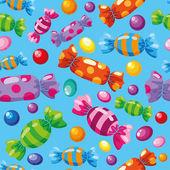 Seamless pattern candies blue