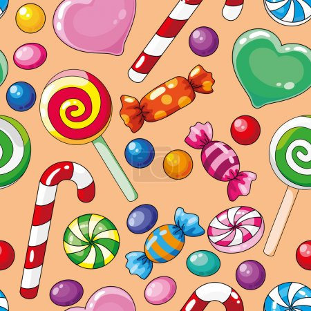 Seamless pattern candies