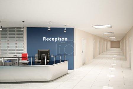 Photo pour Illustration 3D de la salle de bureau moderne - image libre de droit