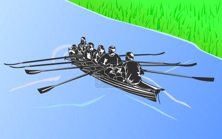 Boat in vector