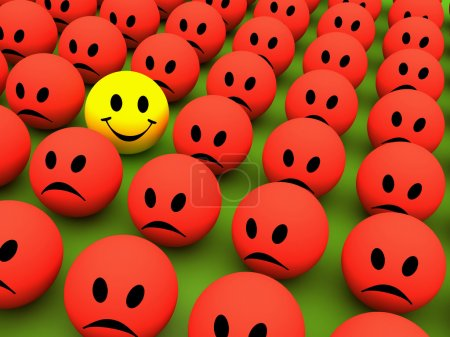Photo for Colourful smile icons show different emotions - Royalty Free Image