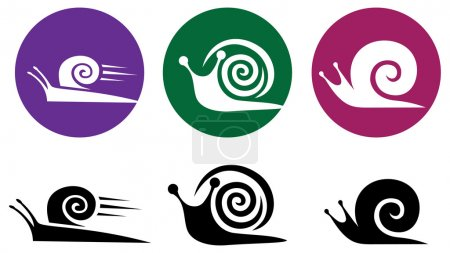 Snail. Vector icon set.