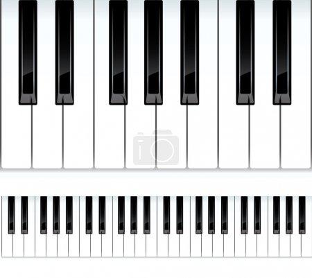 Illustration pour Touches du piano. illustration vectorielle continue. - image libre de droit