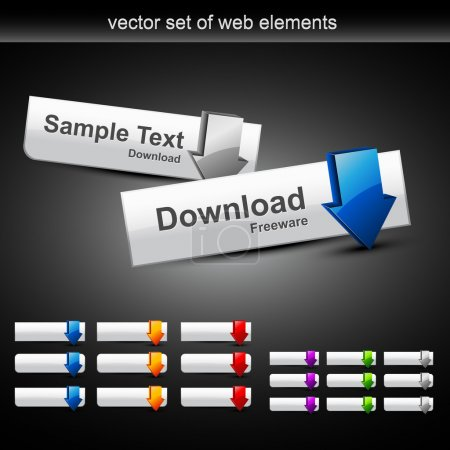 Vector set of web buttons