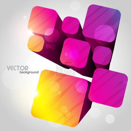 Illustration for Attractive stylish cube design artwork - Royalty Free Image