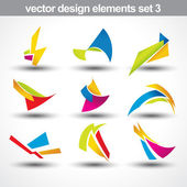Abstract shape vector set 3