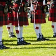 Detail of original Scottish kilts, during Highland...