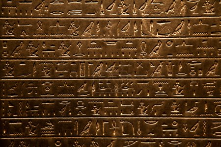 Photo for Background of Egyptian hieroglyphic, written on stone - Royalty Free Image