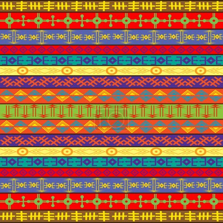 Colored carpet with ethnic ornaments